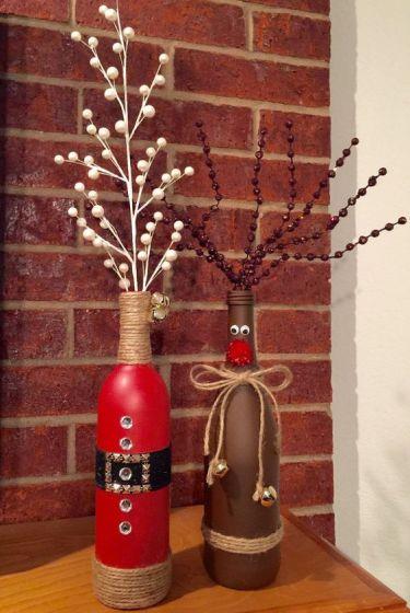 bouteilles recyclées , noël, lebonjo.com, DIY, faire sois-même, récup, fêtes